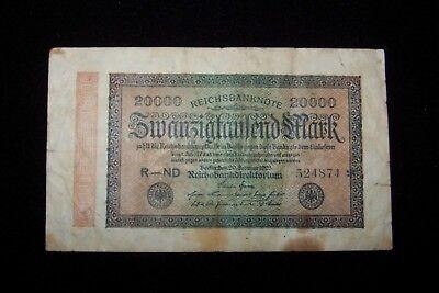 German 1923 20000 Mark Reichsbanknote - Old German Money - $3.50