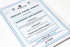 Freezer Paper Sheets x 50 - A4 -SIZE BARGAIN