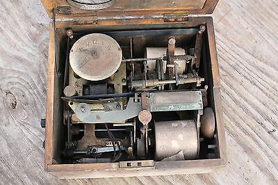 Antique National Time Recorder Clocking In Box retro