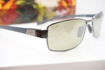 NEW Maui Jim POLARIZED Sunglasses men Rectangular KONA WINDS Gunmetal w HT (Maui Jim Green Sunglasses)