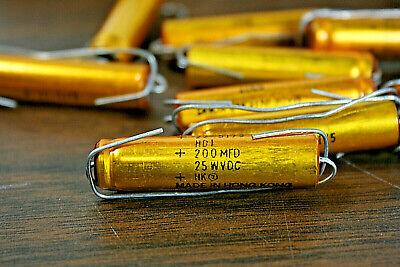 Bag Of 10  200uf- 25v -axial-electrolytic-aluminum-capacitor