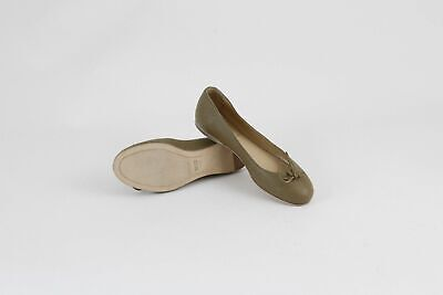 New Fendi Women's Brown Leather Flats Shoes $510 Size 6/36