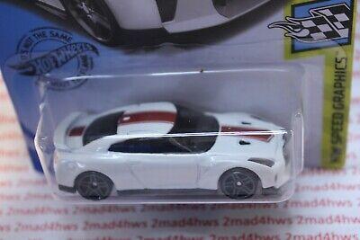 2020 Hot Wheels white '17 NISSAN GT-R (R35) 137/250 speed graphics 10/10