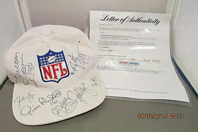 NFL HOFers and Legends Signed Hat Brett Favre, and More With LOA from PSA/DNA