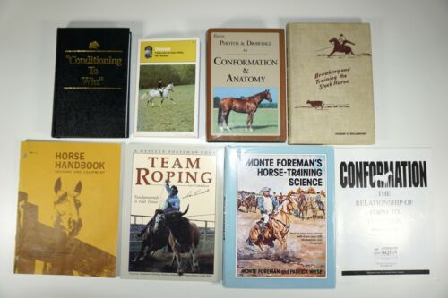 Lot of 8 Vintage Equine Horse Training Books - Team Roping by Leo Camarillo