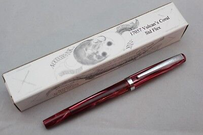 Noodlers Vulcans Coral Standard Piston Flex Nib Fountain Pen