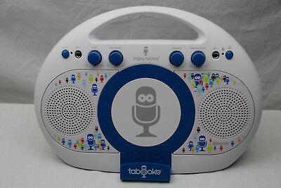 Singing Machine iSM398PP Karaoke Anlage weiss blau mit App für IOS oder Android