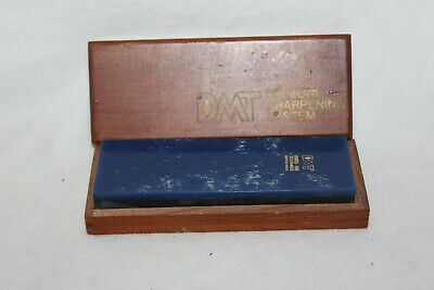 DMT Diamond Sharpening System Blue Sharpening Stone Wooden Storage Box Vintage Dmt Diamond Sharpening System