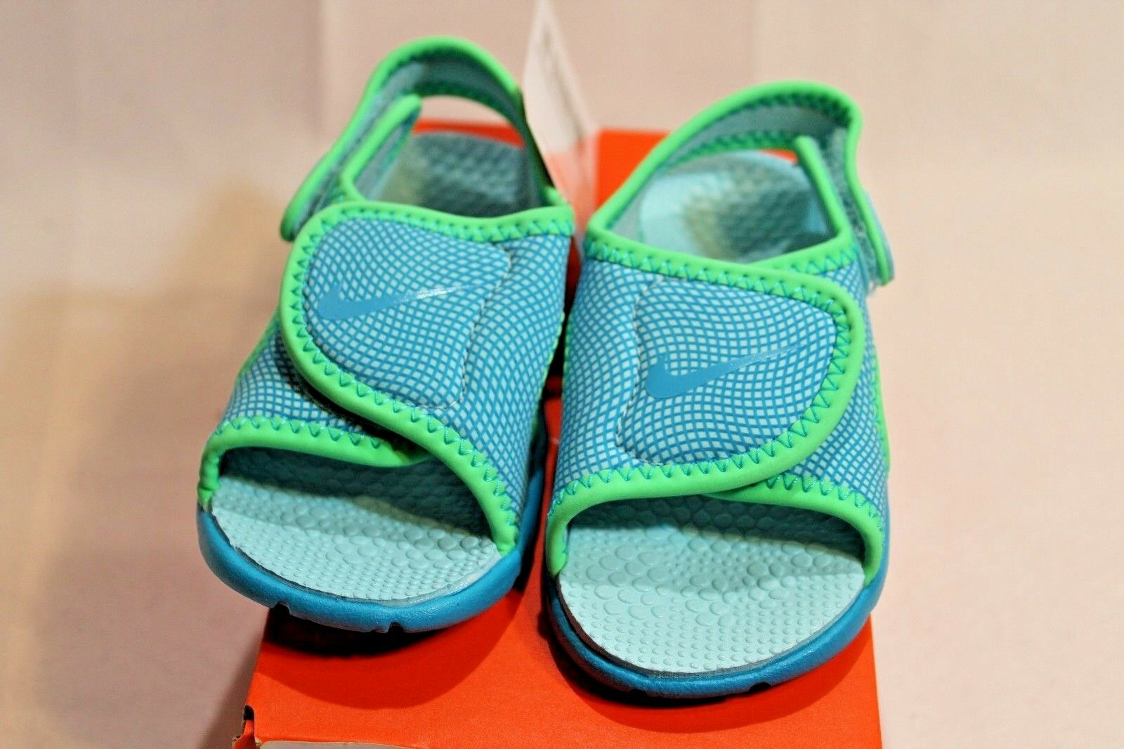 New Infant/Toddler Blue/green Nike Sunray Adjust 4 athletic sandals/shoes