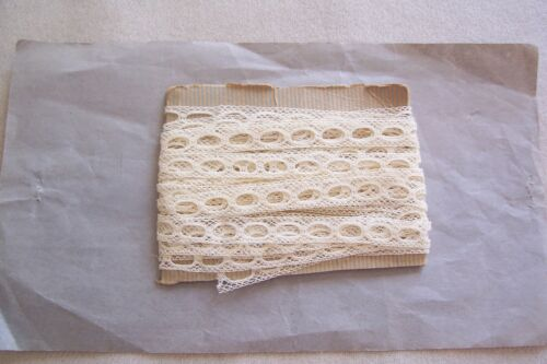 VTG Cotton Lace Ribbon Beading  For Antique  DOLLS CRAFTS 5 yards