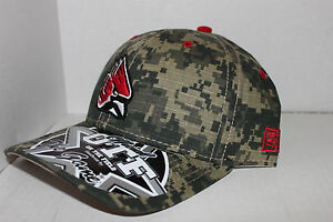 Ball State University Hat Cardinals Camoflage Fitted 7 1/8 Size OTF Model New