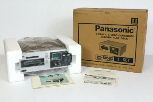 Panasonic RS-805US Vintage Stereo 8 Track Tape Deck w/Box. Refurbished. Video