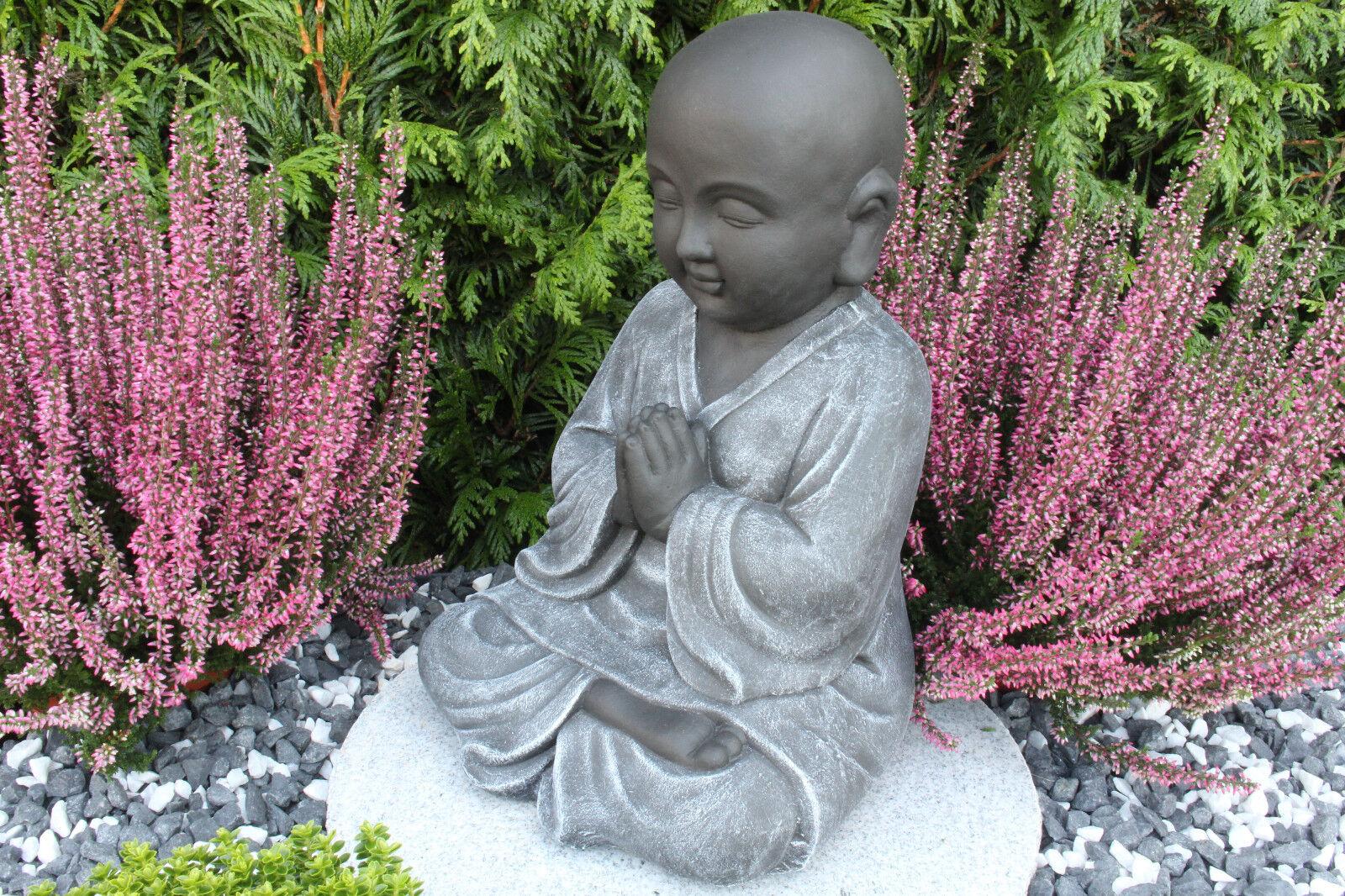 steinfigur buddha m nch feng shui gartenfigur gartendeko geschenk skulptur eur 45 95. Black Bedroom Furniture Sets. Home Design Ideas