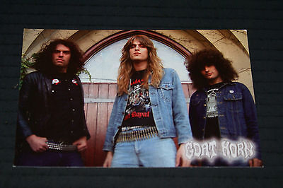 GOAT HORN RARE POST CARD 4 X 5 INCHES OUT OF PRINT 2005 HEAVY METAL HTF OOP