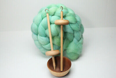 Complete Beginner Drop Spindle Spinning Kit - Mini Size Green - Learn To Spin for sale  Spring