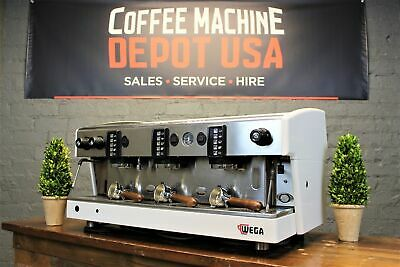 Wega Atlas 3 Group White With Wood Commercial Espresso Coffee Machine