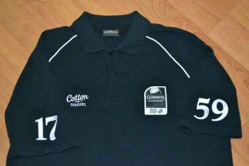 Guinness Premier Rugby Cotton Traders Sewn Polo Shirt Jersey Large UK 1759 Stout