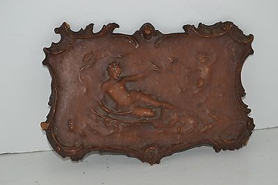 Collectible / Vintage / Antique Old Wood Carved Decorative Piece – Lady and Ange