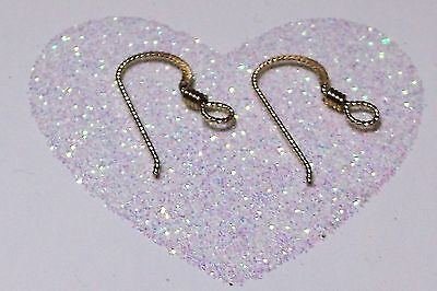 14k YELLOW GOLD-FILLED 19mm X 10mm 22 GAUGE SLIPLESS EAR WIRES WITH COIL - (2)