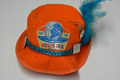 1964/5 NY WORLDS FAIR HAT WITH 8 PINS INCLUDED