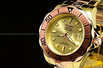 Invicta 300M Grand Diver NH35A Automatic 2-Tone Rose Gold / Gold Dial SS Watch