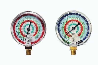Manifold Gauges For Refrigerant R134a R22 R404 R407 R507 Set Of 2 Gauges