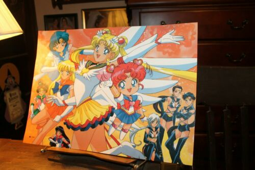 "Vintage Sailor Moon Poster 14-3/4"" x 20-1/2"" Laminated"
