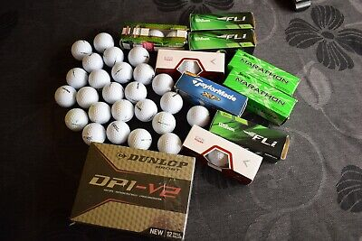 golf balls Mix Golf Balls New In A Box And Loose