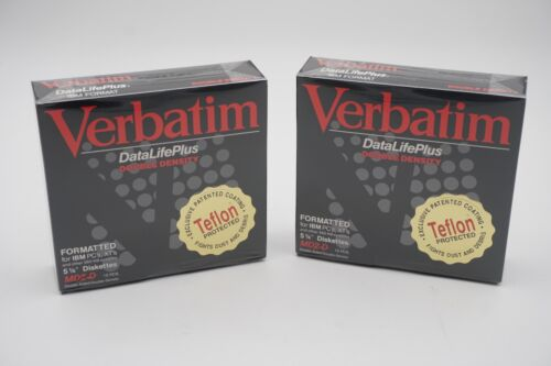 "Lot of (2) Verbatim DataLife Plus Double Density MD2-D 5 1/4"" Floppy Disks 5.25"""