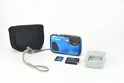 Canon PowerShot D30 12.1MP Digital Camera Waterproof and Rugged, GPS - Blue