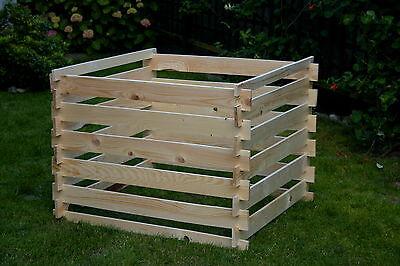 Holzkomposter Steckkomposter Kompostbehälter Kompostsilo 100cm x 100cm x 80cm