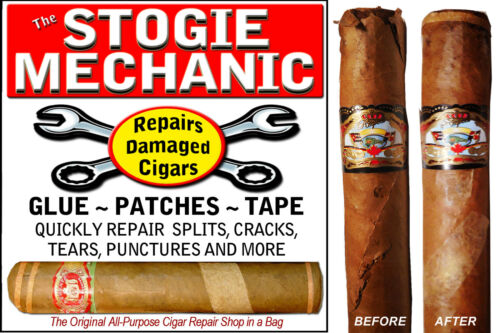 STOGIE MECHANIC MENDS CIGARS  Glue Tape Patches - Fix / Repair Damaged Wrappers