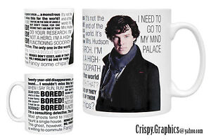 BENEDICT CUMBERBATCH MUG - Sherlock Quotes Mug