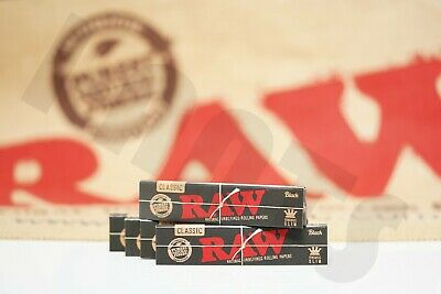 Roll Of Black Paper (5 PACKS OF AUTHENTIC RAW BLACK DOUBLE PRESSED ROLLING PAPER KING SIZE)