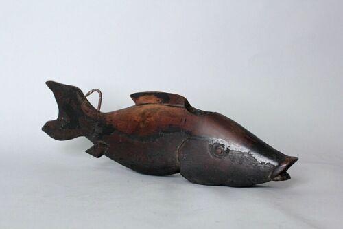 Rare Fish shaped  brazier hook stopper. Meji period,19th c FF95