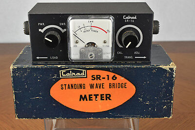 Vintage Calrad SR-16 Standing Wave Bridge Meter with Box MADE IN JAPAN
