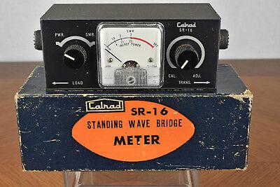 Vintage Calrad Sr-16 Standing Wave Bridge Meter With Box Made In Japan