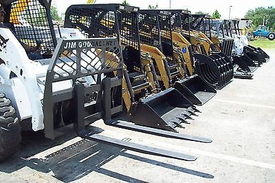 Bobcat Pallet Forks By Bradco Fits All Skid Steers Made Today4000 Lb48 Long