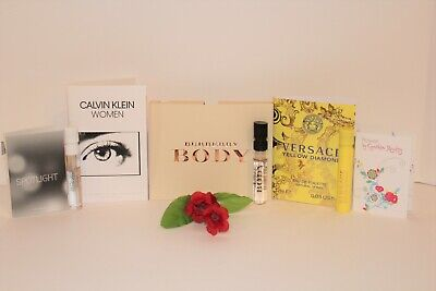 Lot of 5 Women's Perfume Samples: Calvin Klein, Burberry, Versace and more