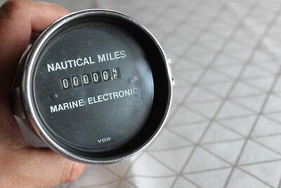 Alter Oldtimer Jungtimer Bootanzeige Nautical Miles Marine Electronic VDO 70 ger