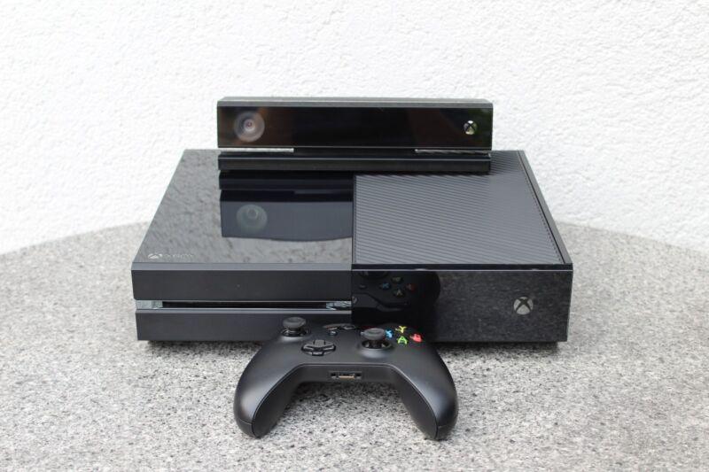 Microsoft XBOX ONE mit KINECT 500GB Schwarz Spielekonsole + CONTROLLER