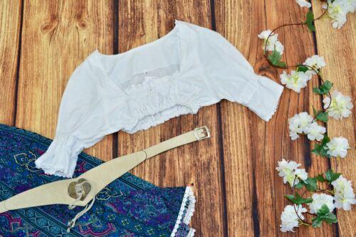 Dirndl blouse top Traditional Bavarian top Oktoberfest blouse Size 38