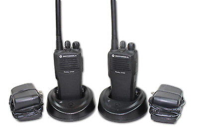 Pair Of Motorola Cp200 Vhf Radios 4 Channels 146-174 Mhz