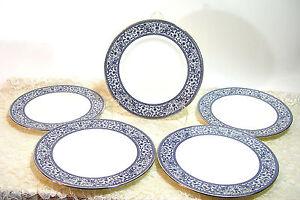 Minton-Infanta-Bone-China-Luncheon-Plate-8-034-Set-of-Five