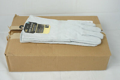6 Pairs Clc 2089l Split Cowhide Welder Gloves Large Leather Full Sock Lining
