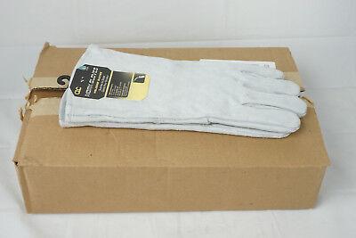 6 Pairs Clc 2089l Split Cowhide Welder Gloves Large Leather Full Sock Lining