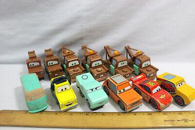 Disney Pixar Cars -  Lot of 12 Wood Cars - ID#0503
