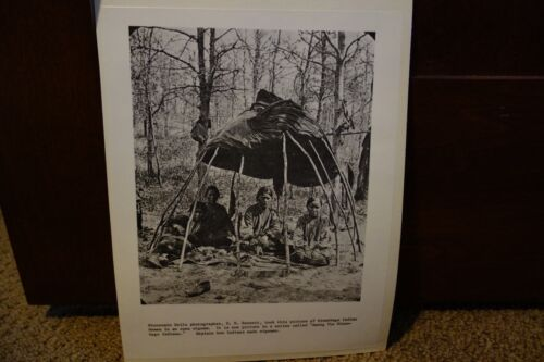 Vintage Wisconsin Historical Society Winnebago Indian Prints Lot of 4