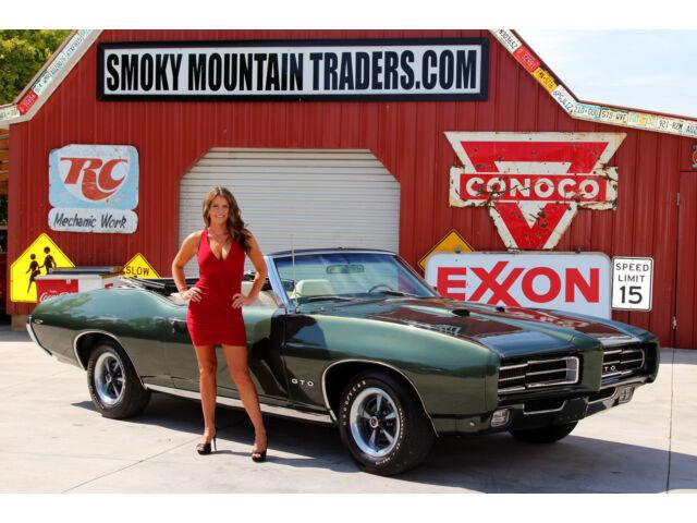 1969 Pontiac GTO Convertible 242 Vin 21K Orig Miles 400 V8 400 Auto PS PDB