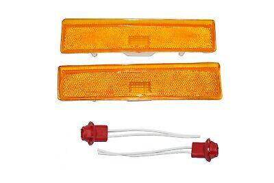 2 Side Markers Corner Lamp Parking Light F150 F250 F350 Truck Pair F-150 80-86